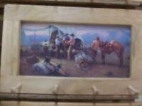 How The West Was Fun Art Framed Peg-Board