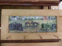 John Deere Art Framed Peg-Board