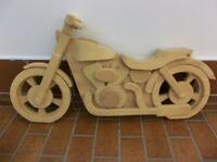 Decorative Wooden Motorcycle