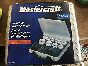 Bi-Metal Hole Saw Set 16 pieces - Brand new in case