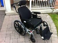 RECLINING SUPPER TILT WHEELCHAIR MAPLE LEAF IN EXCELLENT CONDITI