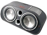 "fli twin 12 "" active sub with built in amplifier 2000w new in box"