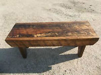 Solid Pine Rustic Bench