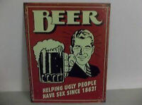 Tin Sign For The Man Cave