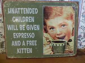 Painted Tin Signs