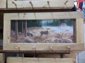 Deer At Camp Art Framrg Peg-Board