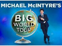 Michael McIntyre Big World Tour FRONT ROW TICKETS
