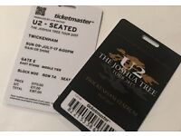 1 or 2 seated U2 ticket(s) for Sunday 9th July - Twickenham £187 each