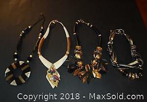 Neck Art Costume Jewelry Necklaces - A