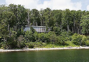 Modern Waterfront Home on Lake Bras D'Or