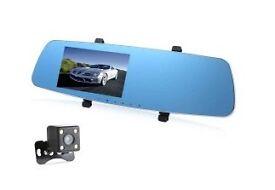 Dual Lens Car DVR Recorder 5 Inch Full HD 1080P RH - 655 Loop Cycle Recording Night Vision Camera