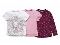 3 packs and 2 packs of girls t-shirts