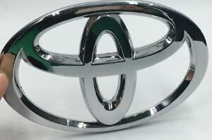 Toyota Emblem Badge NEW - 13cm x 9cm - Chrome ABS