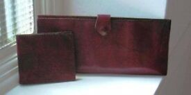 Leather case for travel documents, wallet and belts