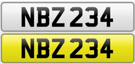 NBZ 234 - Personal Number Plate
