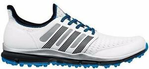 Adidas Climacool Mens Golf Shoes/ White/ Grey/ Blue