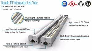 Led T8  & double T5 integrated fixtures , LED TUBES 4FT , 8FT  starting $15