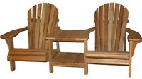 Solid Cedar Wood Double/Corner Chair Kits - FREE Shipping