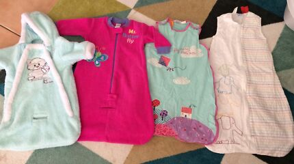 Baby sleeping bags sizes 0-6 months