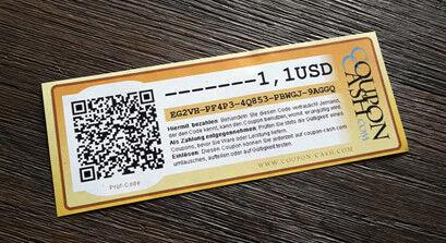 Coupon-Cash, 10 EUR - Mail-Versand siehe Beschreibung