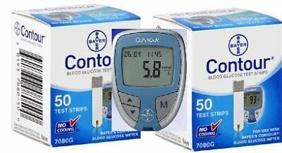 Bayer Contour Combo-1 Contour Meter Kit and 2 Contour Test S