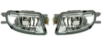 Mercedes Benz SLK R170 96-00 Klarglas Nebelscheinwerfer NSW Set chrom NEU