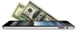 Cash for iPods, iPads, and tablets - $100