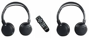 Dodge Grand Caravan uConnect BluRay Remote and headphones  2014 2015 2016 2017