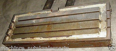 47 X 18 Cast Iron T Slotted Steel Table Coolant Type 3 T Slots