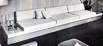 60s Book Build MID CENTURY MODERN FURNITURE 125 Eames Era Plans Sofa Slat Bench