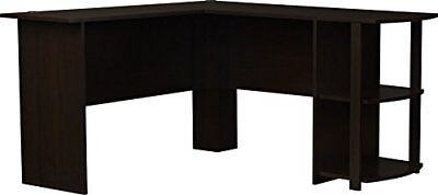 Ameriwood Home Dakota L-Shaped Desk with Bookshelves (Espresso) New