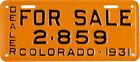 Collectible Colorado License Plates