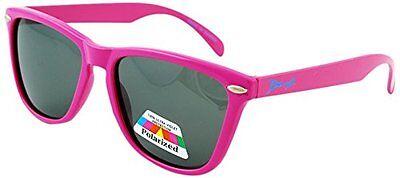 12Junior Banz Aviator Flamingo Pink Wayfarer Kidz Sunglasses with Case, Age (Baby Banz Sunglasses Case)