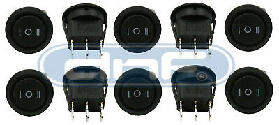 10 Pack 6a 250v 10a 125v Onoffon 3 Position Mini Round Rocker Switch 12v Spdt