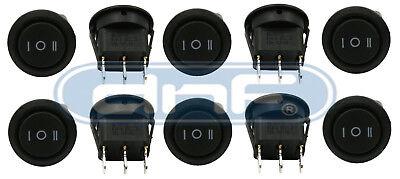 10 Pack 6a 250v 10a 125v Onoffon 3 Position Mini Round Rocker Switch 12v Spdt