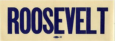 Vintage 1930s Franklin ROOSEVELT Auto Window Sticker