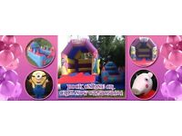 Bouncy castle and mascot look a like character available for amazing prices !