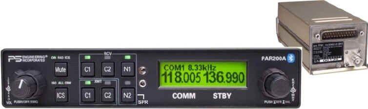 Ps Engineering Par200a Audio Panel Com Intercom Bluetooth