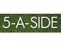 5 ASIDE FOOTBALL TEAMS
