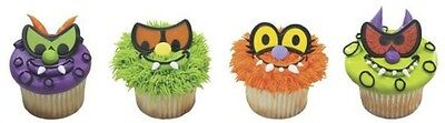Halloween Scary Eyes Monsters cupcake rings (24) party favor cake - Halloween Scary Cupcakes
