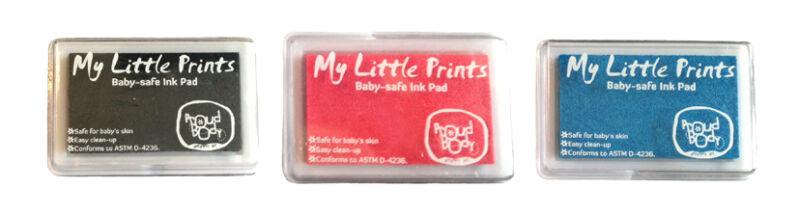 DIY BABY SAFE INK PAD Nontoxic Reusable Hand Foot Finger Print Black Pink Blue