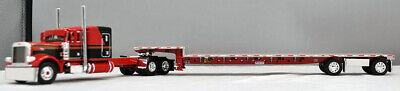 """NEW 60-0860 DCP 1/64 PETERBILT 379 60"""" 320"""" FRAME W/RED/SILVER STEPDECK TRAILER"""
