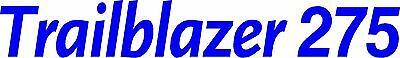 Miller Welder Trailblazer 275 Decal Sticker - Set Of 2 - Blue