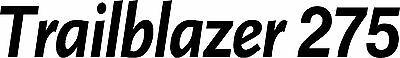 Miller Welder Trailblazer 275 Decal Sticker - Set Of 2 - Black