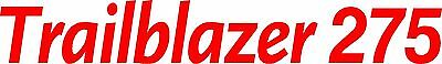 Miller Welder Trailblazer 275 Decal Sticker - Set Of 2 - Red