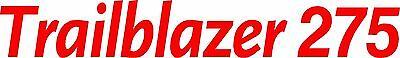 Miller Welder Trailblazer 275 Decal Sticker - Set Of 2 - Red