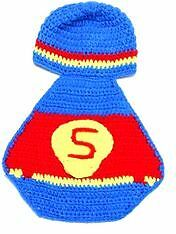 "New- Hand Knit/Crocheted ""Superman"" Photo Prop Outfit Sarnia Sarnia Area image 2"