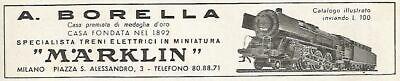 Trenes eléctricos en miniatura W1452 MARKLIN - Anuncio de 1956 - Anuncio...
