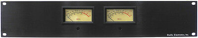 Studio Electronics Rack Mount Lighted Dual VU Meter Panel +4 Balanced XLR Inputs