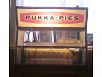 GENUINE PUKKA PIE DOUBLE HEATED DISPLAY CABINET OVEN ideal for chip shop restaurant cafe etc